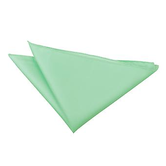 Mint Green Solid Check Handkerchief / Pocket Square