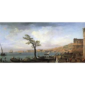 View of the Gulf of Naples,VERNET Claude-Joseph,80x40cm