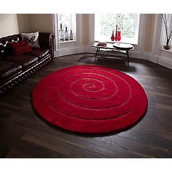 Spiral Red Red Circle Rugs Plain/Nearly Plain Rugs