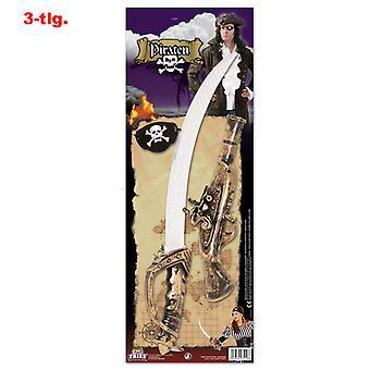 Pirate set Sabre eye flap pistol