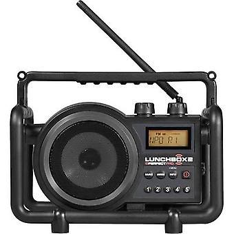 PerfectPro Lunchbox 2 FM Workplace radio AUX, AM, FM splashproof, dustproof, shockproof Black