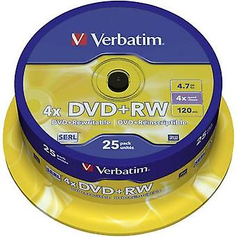 Blank DVD+RW 4.7 GB Verbatim 43489 25 pc(s) Spindl