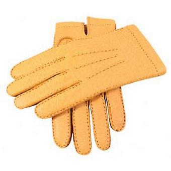 Dents Cork Handsewn Cashmere Lined Peccary Gloves - Beige