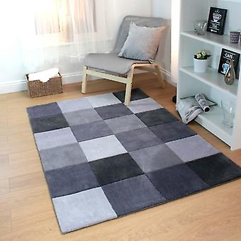 Infinite  Squared Grey  Rectangle Rugs Funky Rugs