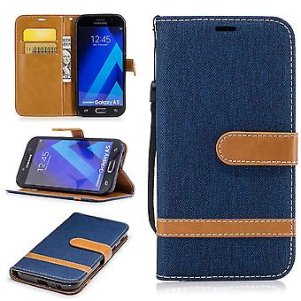 Case for Samsung Galaxy A5 2017 jeans cover cell phone protective cover case dark blue
