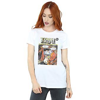 Pink Floyd Women's Distressed Comic Cover Boyfriend Fit T-Shirt