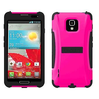 Trident - Aegis Case for LG Optimus F7 US780 Cell Phones - Pink/Black