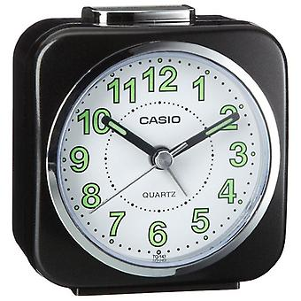 Casio TQ143S-1 Travel/Portable Alarm Clock with Light and Snooze - Black