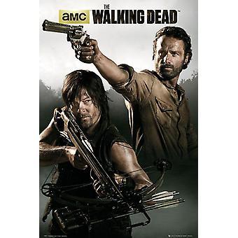 De walking dead poster Rick Grimes & Daryl Dixon Andrew Lincoln & Norman Reedus