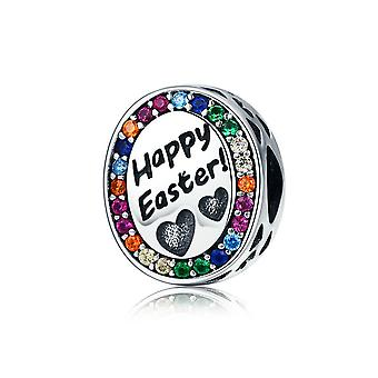 Sterling silver charm, Happy Easter