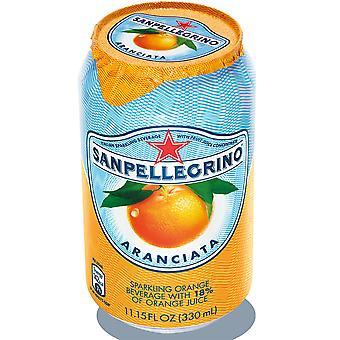 San Pellegrino funkelnden Aranciata Orange Dosen
