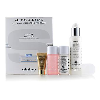 Sisley All Day All Year Essential Anti-Aging Program: All Day All Year 50ml + Cleansing Milk 30ml + Floral Toning Lotion 30ml + Supremya At Night 5ml - 4pcs