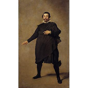 The Buffoon Pablo de Valladolid,Diego Velazquez,80x40cm