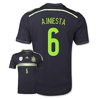 2014-15 Spanje weg World Cup Shirt (A.Iniesta 6)