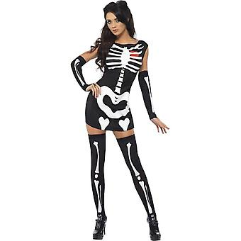 Fever Sexy Skeleton Costume, UK Dress 12-14
