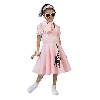 Poodle Dress Pink , Medium