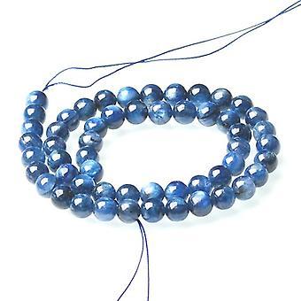 Strand 65+ Blue Kyanite 5-6mm Plain Round Beads CB50996-2