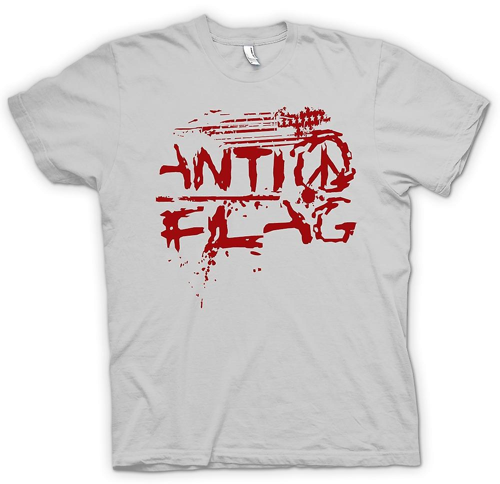 Heren T-shirt-Anti - Flag - U.S. - Punk rockband - anarchie