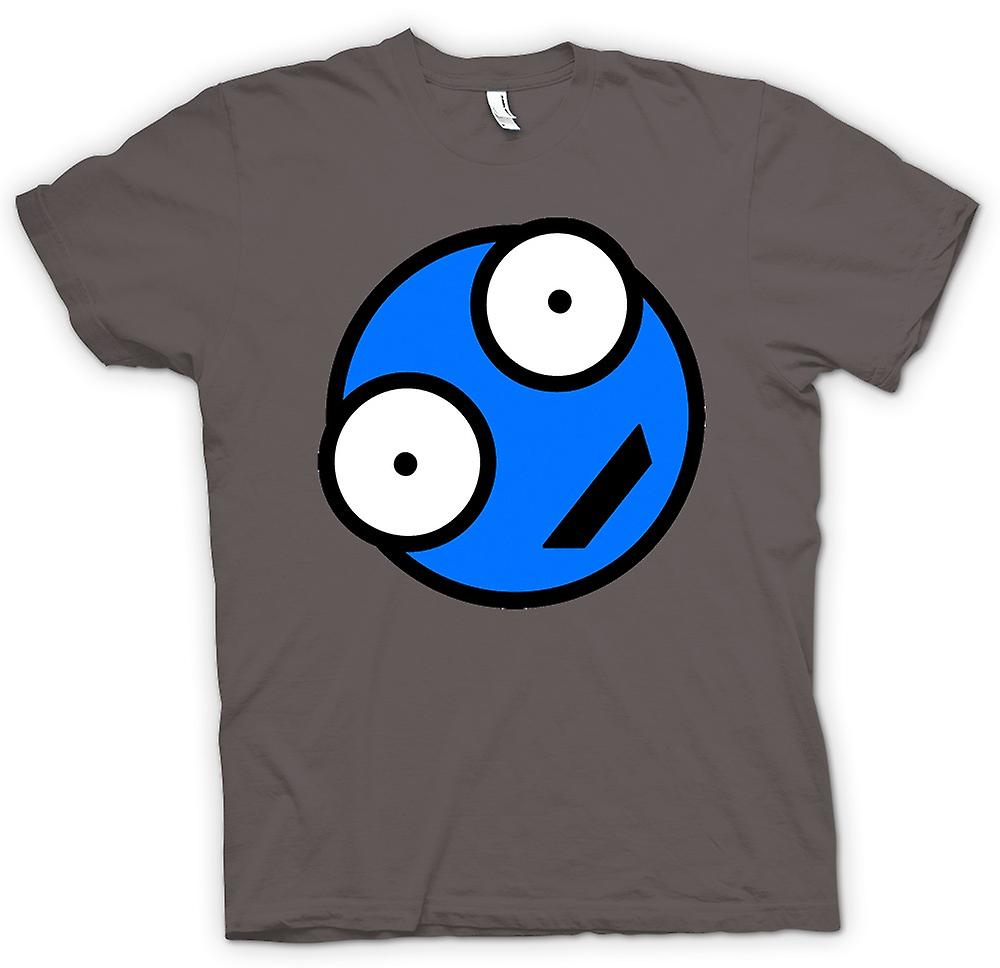 Mens T-shirt - Blue Smiley Face - Funny