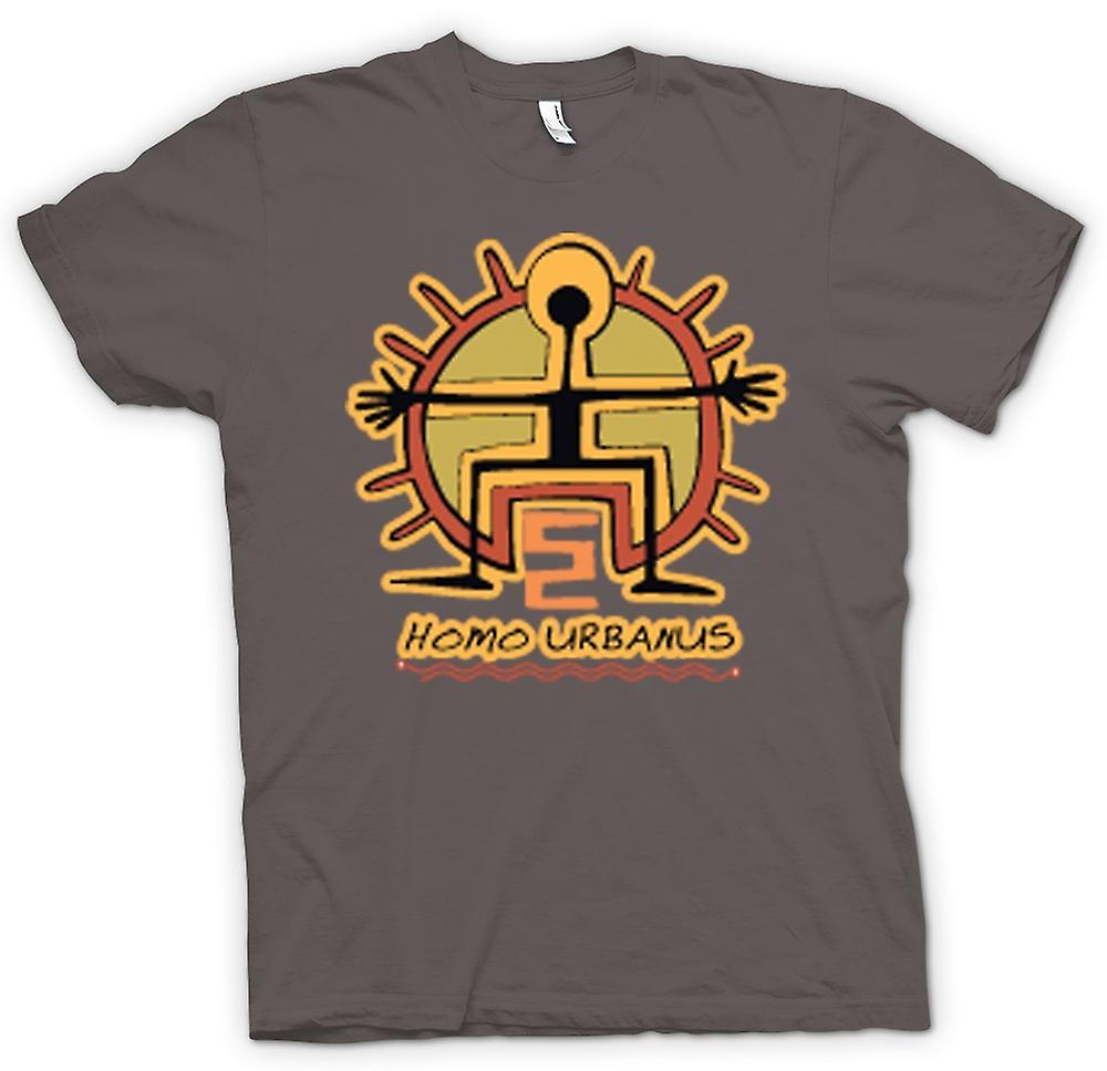 T-shirt-Homo Urbanus Caveman Design