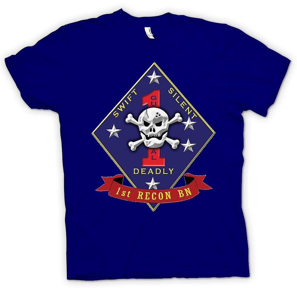 Hommes T-shirt - Swift silencieux mortel - USMC Recon