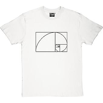Fibonacci Spiral Men's T-Shirt