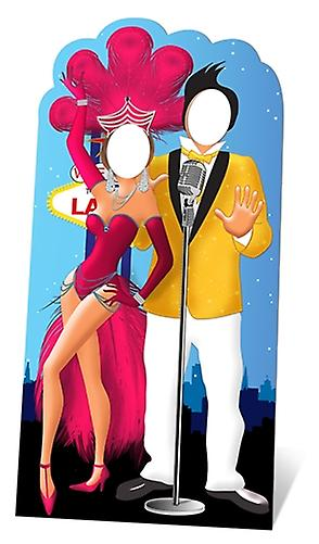 Las Vegas Couple Lifesize Cardboard Stand-in Cutout