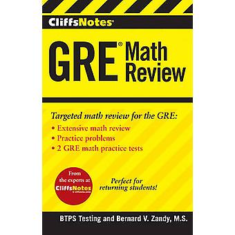 CliffsNotes GRE Math Review by BTPS Testing - 9781118356241 Book