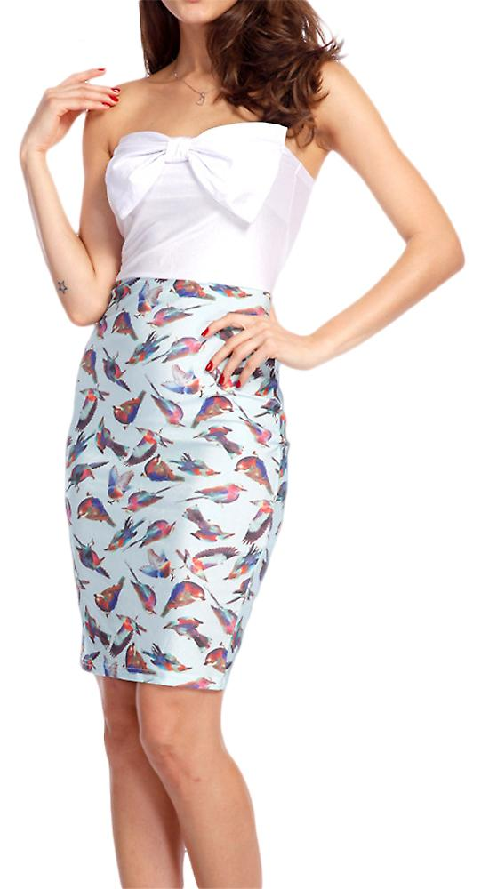 Waooh - Short dress pattern birds Arcy