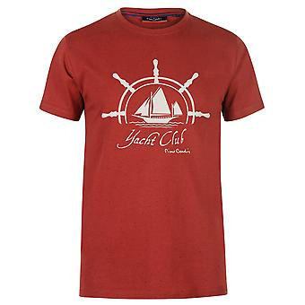 Pierre Cardin Mens Nettuno stampa T Shirt manica corta girocollo t-shirt Tee Top