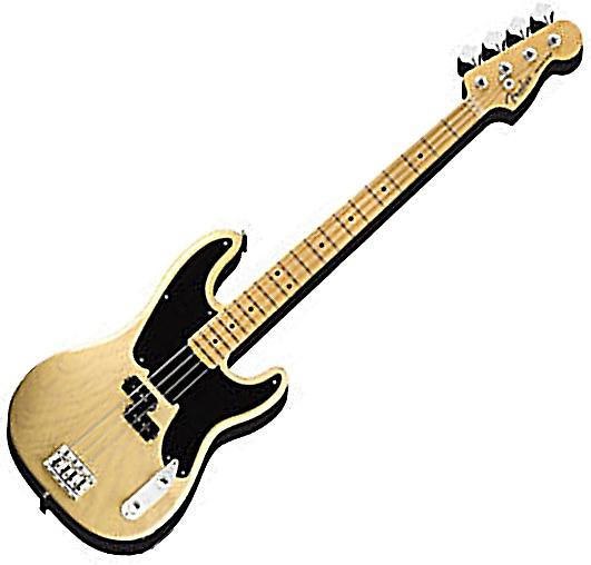 Fender Bass Guitar chunky thick fridge magnet    (nm)