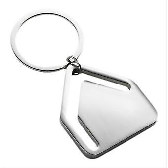 David Van Hagen House Shaped Bookmark and Key Ring - Silver