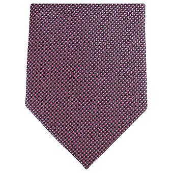 Knightsbridge Neckwear Small Pattern Regular Polyester Tie - Pink/Black