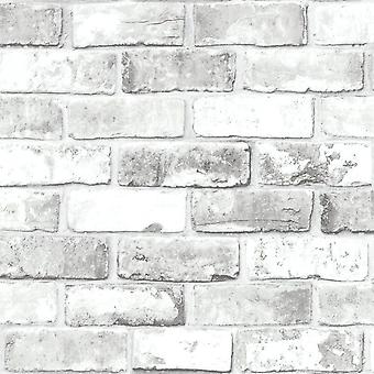 Brick Effect Wallpaper Slate 3D Weathered Stone Realistic Paste The Paper Debona