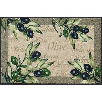 Salonloewe Fußmatte Olive Olivo waschbarer Türvorleger Läufer