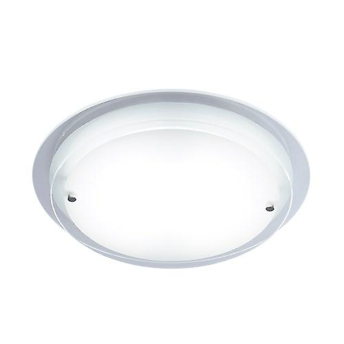 Dar COR472/28LE Corpus Modern Low Energy Flush Ceiling Light With Frosted Glass