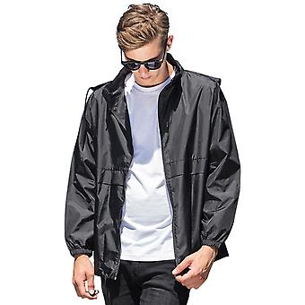 Baumwoll-Addict Mens Nylon Hooded Sports Windbreaker Jacket