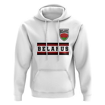 Bielorrusia corazón de fútbol Country hoody (blanco)