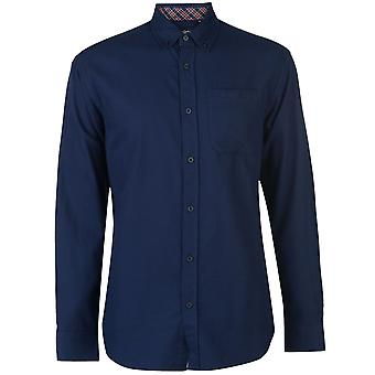 Pierre Cardin Mens C Plain Twill Camicia a maniche lunghe Camicia Casual Top