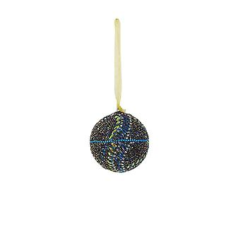 Light & Living Christmas Bauble Round Ø7 Cm NATAL Gold-blue