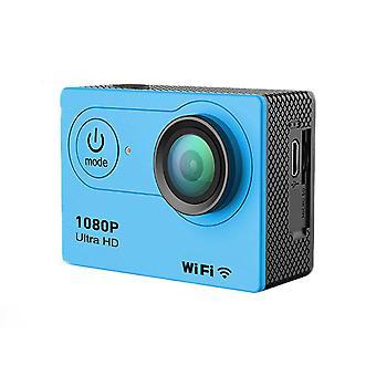 Cámara de acción ultra hd 1080p wifi control remoto deportes videocámara dv dv impermeable pro cámara - azul