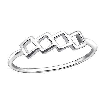 Plaza - anillos de llanura de plata esterlina 925 - W30399X