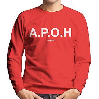 A.P.O.H Classic White Logo Men's Sweatshirt