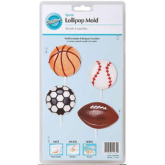 Lollipop Mold Sports 4 Cavity 4 Designs W4432