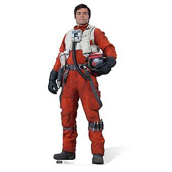 PoE Dameron Star Wars il forza risveglia sagoma di cartone / Standee / Standup