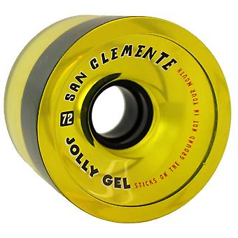 Ruedas skate San Clemente Jolly Gel 72 set 4