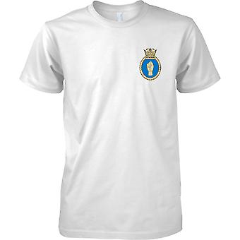 HMS Puncher - actual buque de la Armada Real t-shirt color