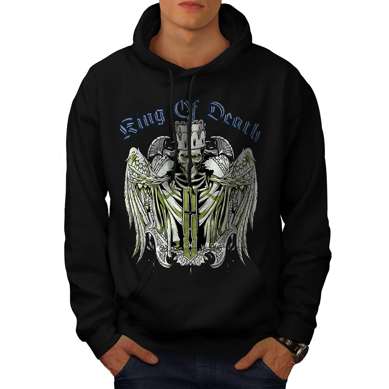 King Of Death Thrones Dead Skull Men Black Hoodie | Wellcoda