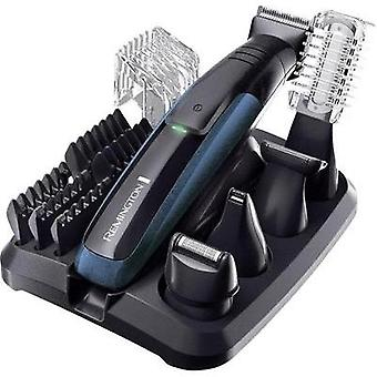 Body hair trimmer, Hair clipper, Beard trimmer Remington PG6150 GroomKit Plus washable, USB charger Black, Blue