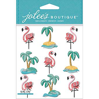 Jolee's Boutique Dimensional Stickers-Flamingos & Palm Trees E5021679